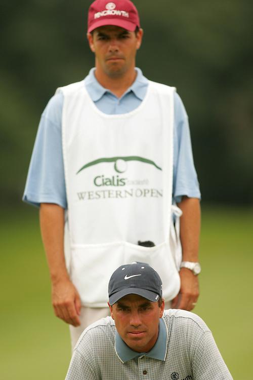 Stephen Ames.Robert Ames ( caddie )..2004 Western Open.Final Round.Cog Hill GC.Lemont, IL.Sunday, July 4 2004..photograph by Darren Carroll