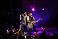 Jonas Brothers on tour shot for Net Jets as part of their sponsorship of the tour.