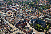 Nederland, Noord-Holland, Alkmaar, 14-07-2008; binnenstad met Sint Laurens (Laurenskerk) en Satdhuis. .luchtfoto (toeslag); aerial photo (additional fee required); .foto Siebe Swart / photo Siebe Swart