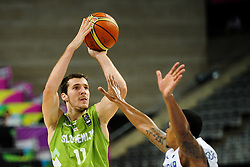 Goran Dragic of Slovenia vs Edgar Sosa of Dominican Republic during basketball match between National Teams of Slovenia and Dominican Republic in Eight-finals of FIBA Basketball World Cup Spain 2014, on September 6, 2014 in Palau Sant Jordi, Barcelona, Spain. Photo by Tom Luksys  / Sportida.com <br /> ONLY FOR Slovenia, France