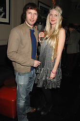 Singer JAMES BLUNT and WILLOW CORBETT-WINDER at a leaving party for Poppy Delevigne who is going to New York to persue a career as an actress, held at Chloe, Cromwell Road, London on 25th January 2007.<br />