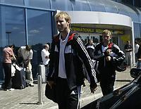 Players of FC Rosenborg after arrival on Bucuresti airport<br /> 09.08.2005<br /> Photo: Aleksandar Djorovic