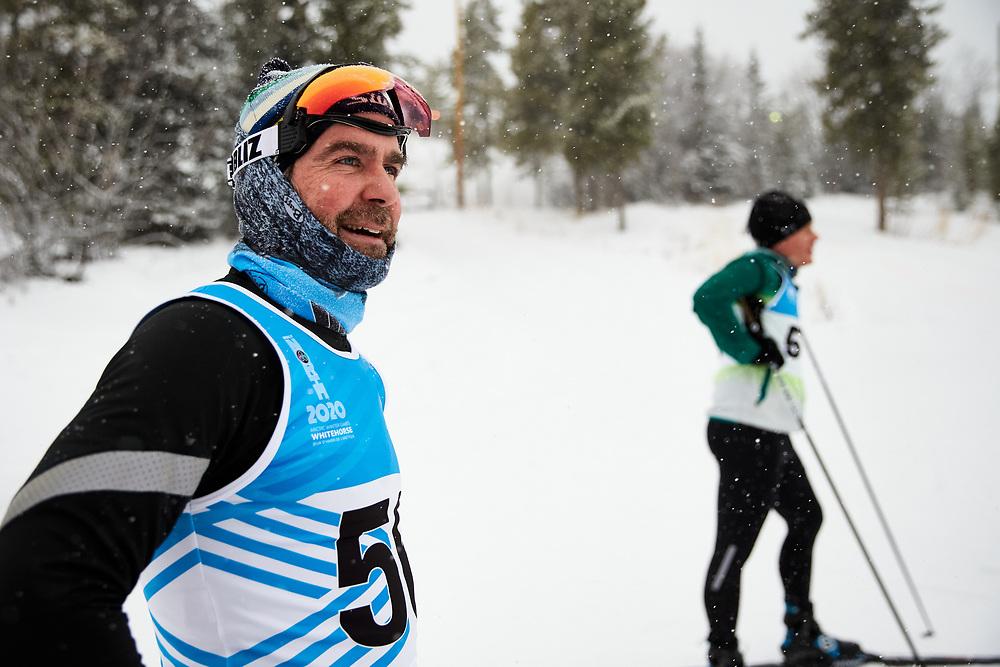 2020 Don Sumanik skate ski race was run on December 5, 2020 at the Mt Mac ski area in Whitehorse, Yukon.<br /> Simon Lapointe (Masters Men)