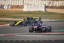 February 21, 2019 - Barcelona, Spain - 18 STROLL Lance (can), SportPesa Racing Point F1 RP19, 03 RICCIARDO Daniel (aus), Renault Sport F1 Team RS19, action during Formula 1 winter tests from February 18 to 21, 2019 at Barcelona, Spain - Photo  Motorsports: FIA Formula One World Championship 2019, Test in Barcelona, (Credit Image: © Hoch Zwei via ZUMA Wire)