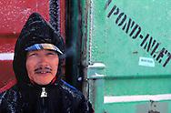 Inuit Narwhal hunter Maktar, Pond Inlet, Canada