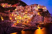 Evening light in Manarola, Cinque Terre, Liguria, Italy