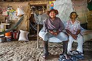 Portrait of an old couple from the Wapishana indigenous community of Katoonarib in South Rupununi (Guyana).