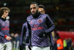 Alexandre Lacazette of Arsenal warms up - Mandatory by-line: Arron Gent/JMP - 27/02/2020 - FOOTBALL - Emirates Stadium - London, England - Arsenal v Olympiacos - UEFA Europa League Round of 32 second leg