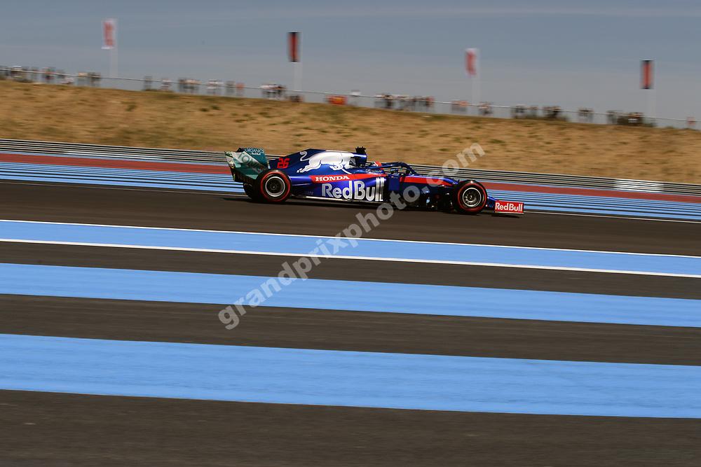 Daniil Kvyat (Toro Rosso-Honda) during practice for the 2019 French Grand Prix at Paul Ricard. Photo: Grand Prix Photo