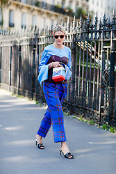 Street style, blogger Sofie Valkiers (Fashionata) arriving at Dries Van Noten Spring Summer 2017 show held at Rue de Saint Petersbourg, in Paris, France, on September 28, 2016. Photo by Marie-Paola Bertrand-Hillion/ABACAPRESS.COM