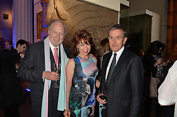Thursday 22nd May saw VIPs, influencers, social faces and Samsung BlueHouse members attend A Private View of the Exhibition Ancient lives new discoveries.  Hosted by Samsung BlueHouse, guests enjoyed an expert talk from Visionary Director of The British Museum, Neil Macgregor, hailed as the UK's greatest explainer of the power of museums and their treasures. Guests also were treated to Champagne and canapés. <br /> Picture Shows:-Left to right, ED VICTOR, KATHY LETTE and NEIL MACGREGOR.