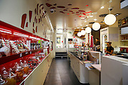 Interior of a confectionery shop on the French Riviera, Sainte-Maxime, France
