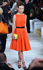 Olivia Wilde at New York Fashion week 13-9-12