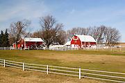 Iowa USA, farm in Northeast Iowa along highway Iowa-60. November 2006