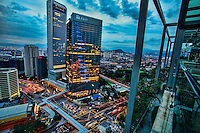 """View of KL from the """"View Lounge"""" terrace"""