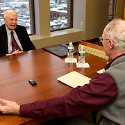 PORTLAND, MAINE -- 12/11/19 --  Ken Curtis served as governor of Maine from 1967-1975 and then as Chair of the Democratic National Committee in 1977. He spoke with Portland Phoenix reporter Douglas Rooks this week in Portland. Photo by Roger S. Duncan for The Portland Phoenix