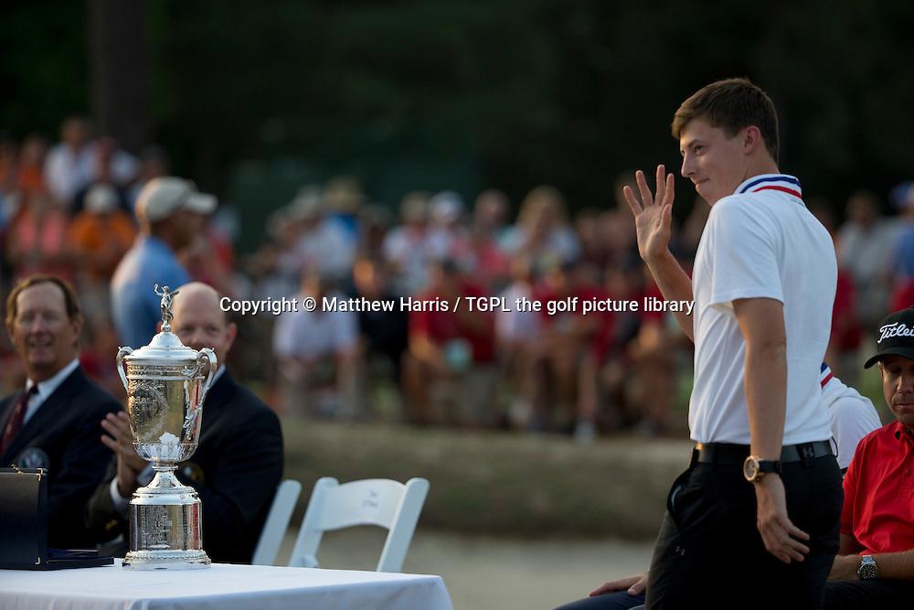 Matthew FITZPATRICK (ENG) wins low amateur medal during fourth round US Open Championship 2014,Pinehurst No 2,Pinehurst,North Carolina,USA.