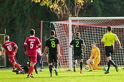 Rok Vodisek of NK Olimpija during 2nd Leg football match between NK Aluminij and NK Olimpija Ljubljana in Quarterfinals of Slovenian Cup 2016/17, on October 26, 2016 in Kidricevo, Slovenia. Photo by Vid Ponikvar / Sportida