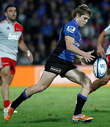 James O'Connor - Western Force kicks the ball during action from Round 11 of Super Rugby between the Western Force v Crusaders - April 30th,2011.Played at NIB Stadium Perth Western Australia.Conditions of Use - this image is intended for editorial use only (print or electronic).Any Further use requires additional clearance. Photo SMP Images (THERON KIRKMAN)