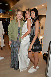 Left to right, POPPY JAMIE, MILLIE MACKINTOSH and NEELAM GILL at the launch of the new Rimowa store at 153a New Bond Street, London on 29th June 2016.