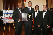 l to r: Noel Hankin, R. Donahue Peeples, Kyle Donavan and Andrew Glaser at The 2009 NV Awards: A Salute to Urban Professionals sponsored by Hennessey held at The New York Stock Exchange on February 27, 2009 in New York City. ....