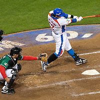 15 March 2009: #52 Tae Kyun Kim of Korea hits the ball during the 2009 World Baseball Classic Pool 1 game 2 at Petco Park in San Diego, California, USA. Korea wins 8-2 over Mexico.