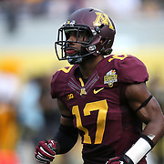 ORLANDO, FL - JANUARY 01:  Logan Hutton #17 of the Minnesota Golden Gophers is seen during the Buffalo Wild Wings Citrus Bowl between the Minnesota Golden Gophers and the Missouri Tigers at the Florida Citrus Bowl on January 1, 2015 in Orlando, Florida. (Photo by Alex Menendez/Getty Images) *** Local Caption *** Logan Hutton