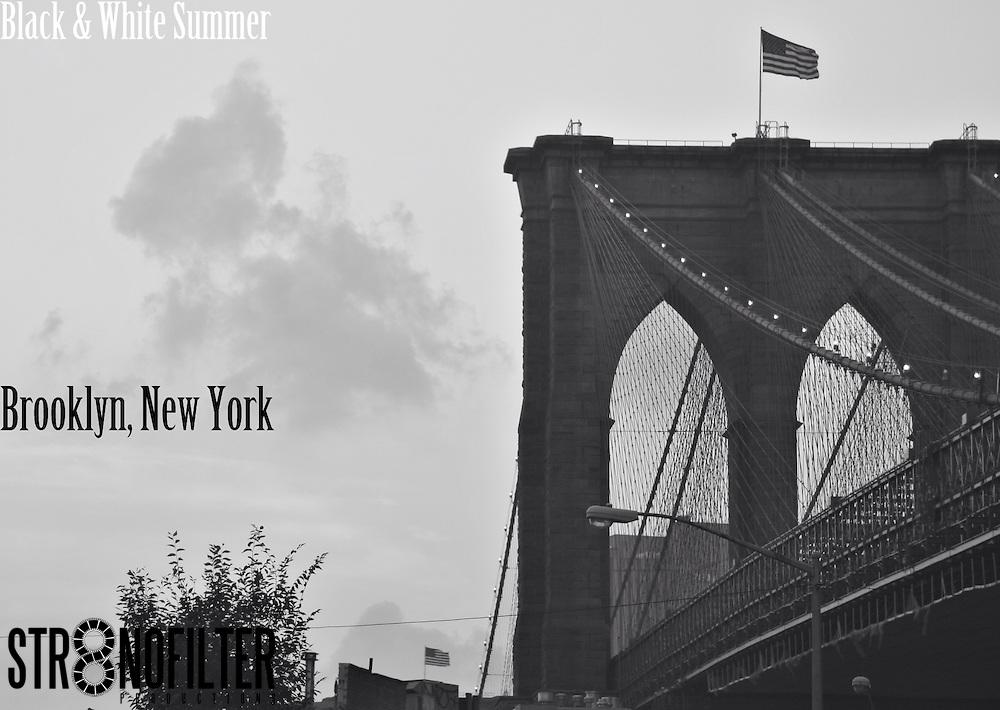 Brooklyn Bridge Captured on Beautiful Summers Day