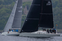 Day 2 Scottish Series, SAILING, Scotland.<br /> <br />  Jacob, Corby 33, 3307, CCC <br /> <br /> The Scottish Series, hosted by the Clyde Cruising Club is an annual series of races for sailing yachts held each spring. Normally held in Loch Fyne the event moved to three Clyde locations due to current restrictions. <br /> <br /> Light winds did not deter the racing taking place at East Patch, Inverkip and off Largs over the bank holiday weekend 28-30 May. <br /> <br /> Image Credit : Marc Turner / CCC