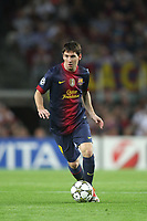 FOOTBALL - UEFA CHAMPIONS LEAGUE 2012/2013 - GROUP STAGE - GROUP G - FC BARCELONA v SPARTAK MOSCOW - 19/09/2012 - PHOTO MANUEL BLONDEAU / AOP PRESS / DPPI - LIONEL MESSI