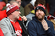 Forest supporters during the EFL Sky Bet Championship match between Nottingham Forest and Derby County at the City Ground, Nottingham, England on 11 March 2018. Picture by Jon Hobley.