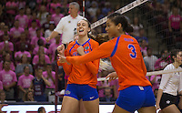 Florida vs. Texas A&M NCAA college volleyball game Sunday, Oct. 16, 2016 in College Station, Texas.