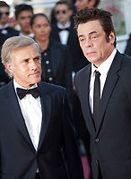 Christoph Waltz and Benicio del Toro at the 70th Anniversary Ceremony arrivals at the 70th Cannes Film Festival Tuesday 23rd May 2017, Cannes, France. Photo credit: Doreen Kennedy