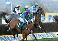 National Hunt Horse Racing - 2019 Cheltenham Festival - Thursday, Day Three (St Patrick's Day)<br /> <br /> Johnny Berry on Go Another One (far side) in the 17.30 Fluke Walwyn Kim Muir Challenge Cup Amateur Riders Handicap Steeple Chase (Class 2), at Cheltenham Racecourse.<br /> <br /> COLORSPORT/ANDREW COWIE