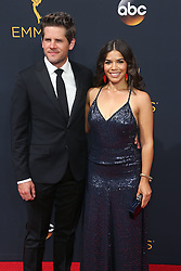 Ryan Piers Williams, America Ferrera arriving for The 68th Emmy Awards at the Microsoft Theater, LA Live, Los Angeles, 18th September 2016.