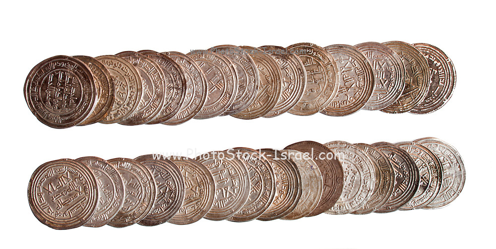 30 Islamic coins 8-10th century CE