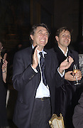 Bryan Ferry. Moet and Chandon fashion tribute to Philip treacy. V. & a. 16 April 2002. © Copyright Photograph by Dafydd Jones 66 Stockwell Park Rd. London SW9 0DA Tel 020 7733 0108 www.dafjones.com