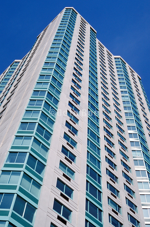upward view of apartment high rise
