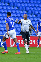 Football - 2020 / 2021 Sky Bet Championship - Cardiff City vs Swansea City - Cardiff City Stadium<br /> <br /> Curtis Nelson of Cardiff City & \10 point fingers at each other in a stadium without fans because of the pandemic crisis<br /> <br /> COLORSPORT/WINSTON BYNORTH