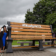 """23.08.2016        <br /> Over 300 students graduated from the Faculty of Arts Humanities and Social Sciences at the University of Limerick today. <br /> <br /> Attending the conferring ceremony was Bachelor of Architecture graduate, Maliha Rafique, Dooradoyle Co. Limerick. Picture: Alan Place.<br /> <br /> <br /> <br /> <br /> UL Graduates Employability remains consistently high as they are 14% more likely to be employed after Graduation than any other Irish University Graduate<br /> Each year, the Careers Service collects information about the 'First Destinations' of UL graduates. During the April/May period following graduation, we survey those who have completed full-time undergraduate and postgraduate courses for details on their current status. This current survey was conducted nine months after graduation and focuses on the employment and further study patterns of the graduates of 2015. A total of 2,933 graduates were surveyed and a response rate of 87% was achieved. <br /> As the University of Limerick commences four days of conferring ceremonies which will see 2568 students graduate, including 50 PhD graduates, UL President, Professor Don Barry highlighted the continued demand for UL graduates by employers; """"Traditionally UL's Graduate Employment figures trend well above the national average. Despite the challenging environment, UL's graduate employment rate for 2015 primary degree-holders is now 14% higher than the HEA's most recently-available national average figure which is 58% for 2014"""". The survey of UL's 2015 graduates showed that 92% are either employed or pursuing further study."""" Picture: Alan Place"""