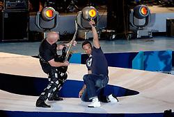 06-08-2006 ATLETIEK: EUROPEES KAMPIOENSSCHAP: GOTHENBORG <br /> De openingsceremonie van de 29th European Championships Athletics werd op de Gotaplatsen gehouden / Hardrockband Hammerfall<br /> ©2006-WWW.FOTOHOOGENDOORN.NL