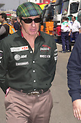 Jackie  Stewart. Grand Prix, Saturday, 28/4/01. Barcelona. 27 April 2001. © Copyright Photograph by Dafydd Jones 66 Stockwell Park Rd. London SW9 0DA Tel 020 7733 0108 www.dafjones.com