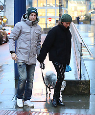 Daley Blind and fiance Candy Rae Fleur in Manchester city centre - 21 Dec 2017