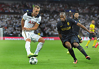 """Football - 2016 / 2017 Champions League - Group E: Tottenham Hotspur vs Monaco""""<br /> <br /> Harry Kane of Tottenham and Djibril Sidibe of Monaco at Wembley Stadium<br /> <br /> <br /> Credit : Colorsport / Andrew Cowie"""