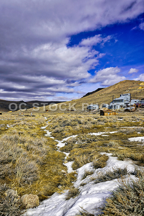 Bodie Mining Town Landscape with Snow