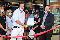 7/14/2020--Annapolis, MD - Grand opening and ribbon cutting of 727 Sailbags, City Dock, 110 Comprimse Street. Photo By © David Trozzo