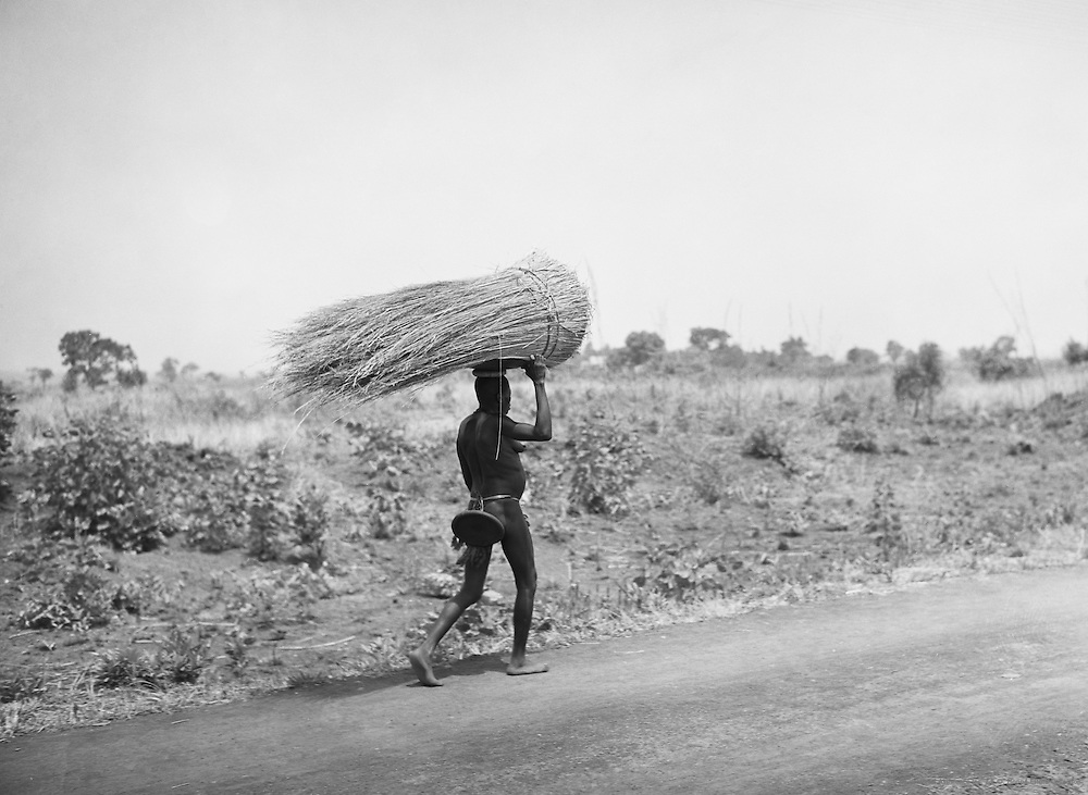 Pagan Woman on Road Carrying Load, Nigeria, Africa, 1937