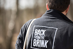 James Harding-Morris, Communications Manager for the Back from the Brink project, RSPB Farnham Heath Nature Reserve, Surrey, April