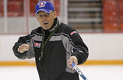 Head coach Mats Waltin at practice of Slovenian national team before Hockey IIHF WC 2008 in Halifax,  on May 01, 2008 in Metro Center, Halifax, Canada.  (Photo by Vid Ponikvar / Sportal Images)