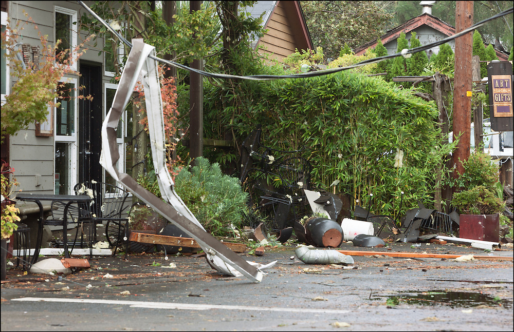 A strong coastal storm wrecked havoc on the coastal town on Manzanita, Oregon with an Ef-2 tornado causing damage to multiple homes.